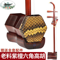 Dream Jiangnan Suzhou Rosewood hexagonal high Hu Huangmei drama accompaniment dedicated erhu professional playing high Hu instrument