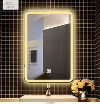Smart mirror cabinet bathroom anti-fog makeup mirror bathroom light wash table white light Bluetooth hanging wall touch screen bathroom