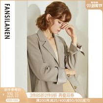 Fan si LAN en leisure suit jacket female design small Korean version of the loose 2019 new spring and autumn occupation suit