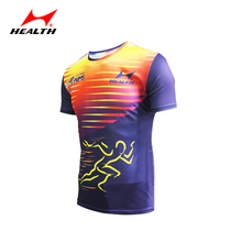 Hales athletics clothing mens marathon running clothing womens sportswear professional skipping clothes quick-drying breathable short-sleeved T-shirt