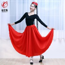 Uygur dance practice skirt dress Xinjiang Uygur dance practice skirt skirt female v