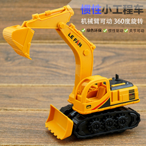 Childrens toy car resistant to falling inertia engineering car baby excavator boy taxiing push digger model toy