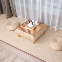 Natural hand-woven straw bay window table Japanese tatami table computer table Kang table Kang a few small coffee table