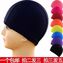 2019 swimming cap nylon mesh children adult men and women long hair fashion ear cloth easy to wear comfortable