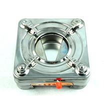 Outdoor Camping home stainless steel alcohol furnace square butterfly furnace cube small hot pot adjustable firepower