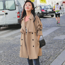 Shorty windbreaker female short paragraph Korean version of the spring and autumn 2019 new models khaki in the long section of the popular small coat tide