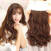 U-shaped head cover wig female one-piece long curly hair big wave net red cute long hair wig piece natural fluffy