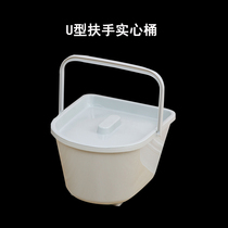 Portable toilet inside the barrel solid barrel squat toilet chair inside the bucket toilet