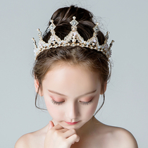 Childrens Birthday holiday catwalk show accessories princess dress crown flower girl wedding hoop girls hair trim Hoop
