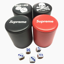 Tide brand Mmj&supreme Sieve cup leather color cup dice sic cup set Bar Plug Cup custom can be printed logo