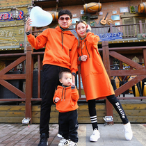 Special parent-child dress Hong Kong fashion high-end a three-mouth autumn dress creative foreign gas network red fashion family of four.