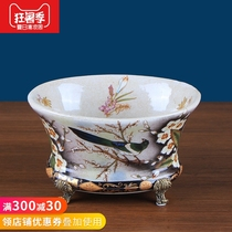 European pastoral ceramic painting decorative bowl ornaments creative key door entrance wine cabinet decoration crafts