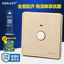 86 type concealed large plate gold brushed touch delay corridor switch induction touch Switch touch delay switch