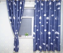 Curtain curtain-style bedroom dust-free perforated thickened room curtains decorative short curtain half-curtain rental room light