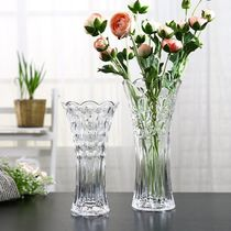 Vase plastic plastic transparent acrylic vase imitation glass plastic vase transparent imitation glass drop decoration