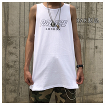 PALACE 19SS summer letters casual loose sports OVERSIZE vest Tide brand bottoming shirt men and women tide
