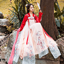 Koi Han jacket skirt female Wei Jin Chinese wind Qi chest skirt wide sleeve costume Super fairy fairy gas elegant antiquity students