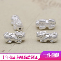 3D hard silver 999 sterling silver foot silver lucky little brave men and women transport beads beaded bracelet accessories