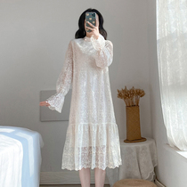 Lace dress girl 2020 early autumn new gentle style goddess Van nee with long-sleeved bottom fairy skirt.