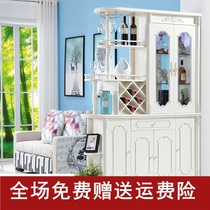 New European-style partition cabinet wine cabinet room cabinet double-sided screen cabinet decoration cabinet door living room entrance cabinet door Cabinet