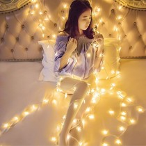 Romantic bedroom small bulb decorative string lights dormitory curtains mini net red background lights lights with warm light wedding