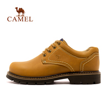 Camel outdoor mens shoes hiking shoes 73538 autumn and winter daily casual mens shoes leather tooling shoes