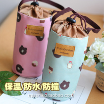 South Korea floral waterproof Cup set with strap can be slung universal insulation Cup set kettle protective cover Cup set bag