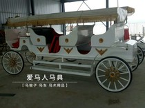 Special wedding wedding props European-style carriage double row sightseeing car opening car scenic Double Row car