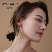Sterling silver earrings female long temperament sexy earrings female Korean personality wild 2019 new face thin earrings