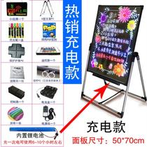 Night light advertising version charging led hand-written electronic blackboard hanging restaurant display board message board glow shop
