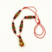 Ethnic minority style crafts zhaojiu Yi lacquer gourd necklace pendant fashion necklace female