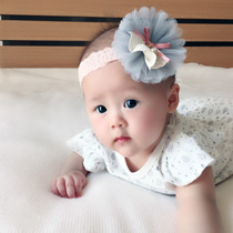 Baby hair band Korean version of the female baby Princess 0-3 years old head flower 6 headdress 0-12 months female baby lace hair band