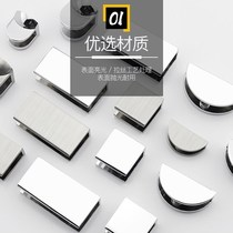 Clip fastener glass installation accessories fixed parts bathroom hardware bathroom partition shelf racks shower room reinforcement