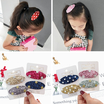 South Koreas new oval sequin baby hair card childrens hair clip bb clip girl hair ornament Liu Hai clip to clip tiara.