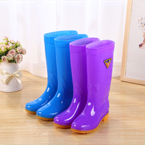Rain shoes women summer into a crowd high cylinder anti-skid thickening wear-resistant fashion kitchen boots long tube shoes waterproof rubber shoes