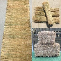Straw curtain cold thickened greenhouse anti-freeze warm straw grass decorative retro square haystack dry straw