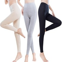 Thin section of spring and autumn in the waist hip flesh tight womens underwear leggings autumn and winter solid color cotton trousers