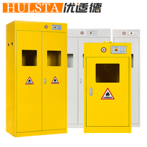 Full steel gas cylinder cabinet intelligent thickened with alarm single bottle double bottle three bottles of hydrogen oxygen liquefied gas storage cabinet custom