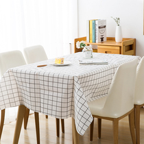 Printed disposable tablecloth thickened plastic disposable tablecloth round table White and blue lattice picnic birthday party knot