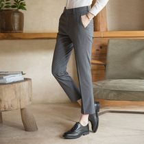 Trousers female professional tooling pants feet nine pants overalls in the waist slim pants ladies dress straight pants