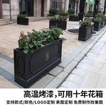 Outdoor wrought iron flower box flower groove creative fence outdoor wrought iron flower box sales department outside the fence flower groove outdoor compartment