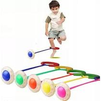 Children flash jump ring with foot guard cotton one foot jump ball 1 pack