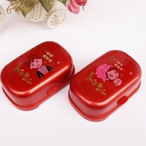 Models wedding soap box red a pair of creative wedding convenient put soap style love Big Red Multi-Purpose