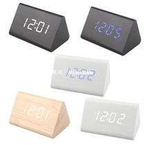 Home Office Wooden Alarm Clock USB AA Batteries Powered by Digi