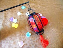 Christmas thickened lantern antique pendant-type iron guessing lantern puzzle a number of hand-held with the hotels glowing Lantern Festival.