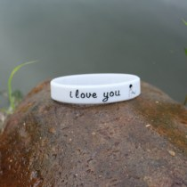 Korean version trend student couple Nightlight hand ring a couple of male and female silicone bracelet wristband simple bracelet fluorescent light