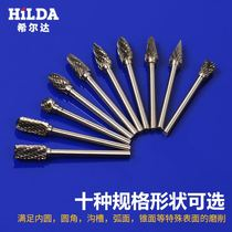 Electric milling head tungsten steel milling head suit woodworking milling engraving metal hinge carbide Rotary file