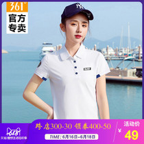 361 womens sports T-shirt 2019 summer breathable lapel sports short sleeve 361 Degree T-shirt casual polo shirt ladies