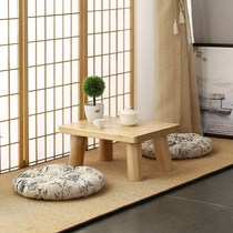 Floating window small tea table tea table small coffee table simple modern tatami small round table table round carbonized small