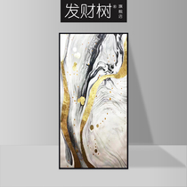 New Chinese hand-painted porch decorative painting corridor aisle abstract painting stairs vertical painting handmade Dafen custom
